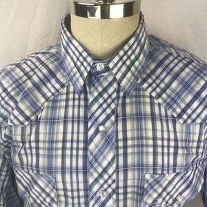 Men's large roper western shirt metallic accents